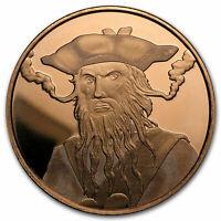 1 oz Copper Round - Blackbeard