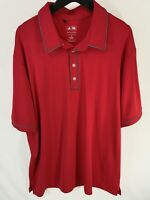 Adidas Men's Casual Golf Shirt Size XL Pure Motion Red Stretch Short Sleeve Polo