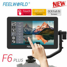 "FEELWORLD F6 PLUS 5.5"" 3D LUT Camera Video Field Monitor 4K HDMI DC Out for DSLR"