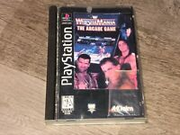 WWF Wrestlemania Arcade Game Long Box Playstation 1 PS1 Complete CIB Authentic