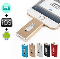 512GB 64GB Dual OTG USB Flash Drive 3in1 Memory Key Disk For IOS iPhone iPad/PC