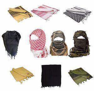 100% Cotton SHEMAGH HEADSCARF - Colour Option - Military Keffiyeh Arab Army Wrap