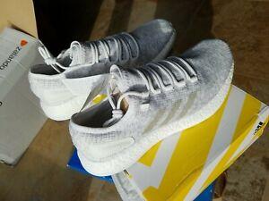 Baskets Running Adidas Pureboost ultraboost Blanc Gris Taille 44 US10 neuves