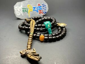 Antique MALA beads and various gem beads used by Tibetan monks Rosewood handmade