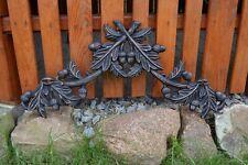 Groß Gusseisen Eichenblatt, Kaminplatte, Relief, Metallbild Pferdegespann -PZ006