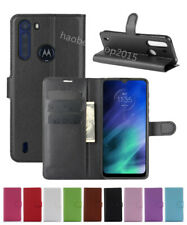Leather slot wallet stand flip Cover Skin Case For Motorola Moto One Fusion