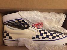 42991658db3f4a Vans Classic Slip-On Tru Blue White Checkerboard VN0A38F7P0W Men s Size 12