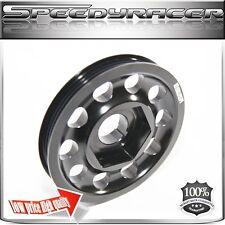 Crank Pulley for 97-01 CRV Honda B16A B18A ONLY Aluminum Black