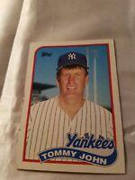 Tommy John's New York Yankee Baseball Card Topps Number 359
