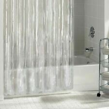 """Clear Solid Vinyl Bathroom Curtain Liner Metal Grommets 72x72"""" Waterproof"""