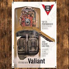 ALUMINIUM SIGN - 200MM X 285MM - 1965 V8 VALIANT AP6