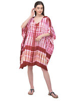Women Kaftan Tunic Plus Size Caftan Casual Loose Tops Short Beachwear Tunics