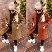 Toddler Baby Girls Fashion Long Sleeve Solid Windproof Coat Warm Outwear Jacket