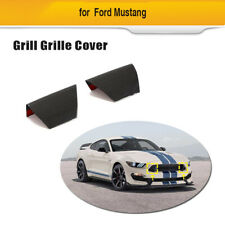 Front Grill Grille Side Cover Carbon Fiber Fit For Ford Mustang Shelby 15-20