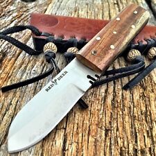 RED DEER Full Tang Western Style Fixed Blade Patch Knife Leather Sheath Tactical