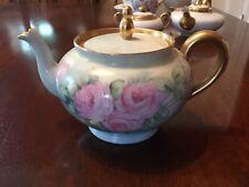 New ListingHandpainted Antique Limoges Teapot, Bernardaud