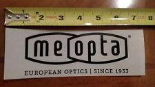 Meopta Vinyl Sticker Decal OEM Original