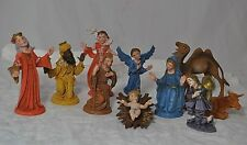 VINTAGE TEN  Nativity Manger FIGURES RESIN POLYRESIN  MADE IN ITALY