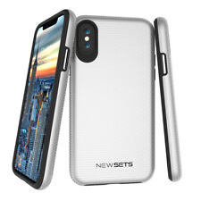 For iPhone X 10 Newsets Triangle Shockproof PC TPU Dual Layer Design Case Cover