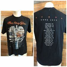 Three Days Grace Rock Human 2015 Tour T-shirt 2 sided with cities Men's Large