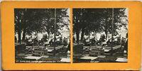 Scena Da BAR Esposizione Universale Da Parigi 1900 Foto Stereo Vintage