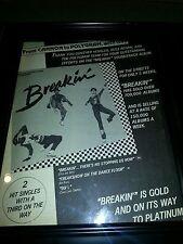 Breakin' Original Motion Picture Soundtrack Promo Poster Ad Framed!