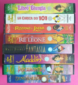 Lotto Stock 8 VHS I Classici Di WALT DISNEY Aladdin Fantasia Pocahontas (V220)