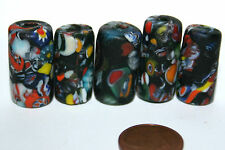 5 x end of day BEADS MILLEFIORI PERLES