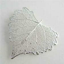 real cottonwood leaf silver brooch / pendant - real leaf jewellery + box