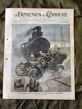 La Domenica del Corriere 15 Settembre 1907 Scontro Treno Elefante Automobile