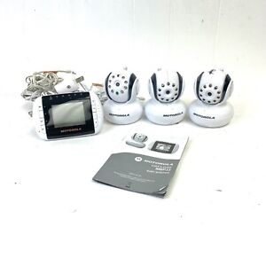Motorola Wireless Baby Monitor Model MBP33/2 Cameras And Monitor Lot