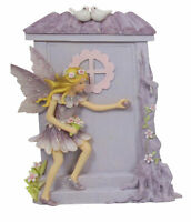 Fairy with Fairy Door - Purple - 20 x 12cms - AU Seller