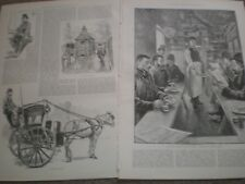 London Cabs and Cabmen 1890 prints and article ref AU