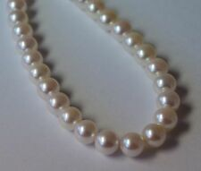 """17"""" 8.0-8.5 mm AAA Akoya Cultured Pearl Necklace"""