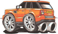 Range Rover Sport Printed Koolart Cartoon T Shirt 2150 Other Colors Available