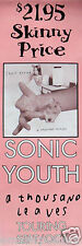 """SONIC YOUTH """"A THOUSAND LEAVES"""" AUSTRALIAN POSTER /BANNER-Alternative Rock Music"""