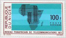 NIGER 1971 285 C153 Pan African Telecommunications System Map Fernmeldenetz MNH