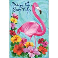 Welcome Flamingo Decorative House Banner Double-sided Garden Flag