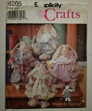 Rabbit Clothes Clothing Sewing Pattern 8205 Simplicity Crafts UC FF Plush Decor