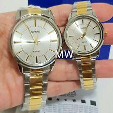 Casio Couple Pair Two-tone Gold Vintage Steel Watch LTP1303SG-7AV MTP-1303SG-7