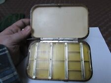 excellent vintage Hardy large trout dry fly mayfly fishing neroda box tortoise