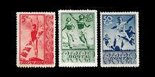 RUSSIA. Sports in Russia. 1938 Scott 698, 703, 704. MNH (BI#NMBX)