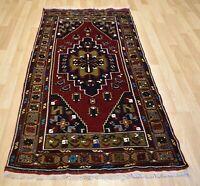 Antique Never Used Caucasian Kazak Handmade Dowry Rug 4Ft x 7' 8 Free Shipping