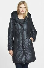 NWT! $425 Elie Tahari Lisa Hooded Down Coat   Sz L   B052