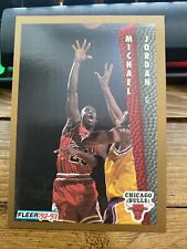 92-93 Fleer Michael Jordan #32, Chicago Bulls, HOF