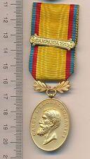 ROMANIA Order WW1 I ROMANIAN CAROL Manhood Faith Medal BALKAN War BAR 1913 rare