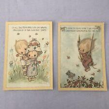Rare Vtg Hallmark Betsey Clark Postcards Lg @ 5x7 Dreams Friends