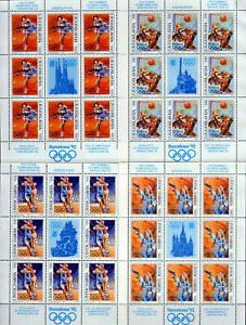Yugoslavia 1992 Olympic Games Barcelona sheet of 8 + label MNH