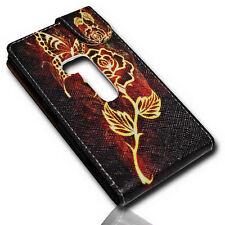 Design 2 Flip Tasche Cover Case Handy Hülle für Nokia Lumia 920