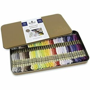 DMC w Collector's Tin with 35 Colors Floss